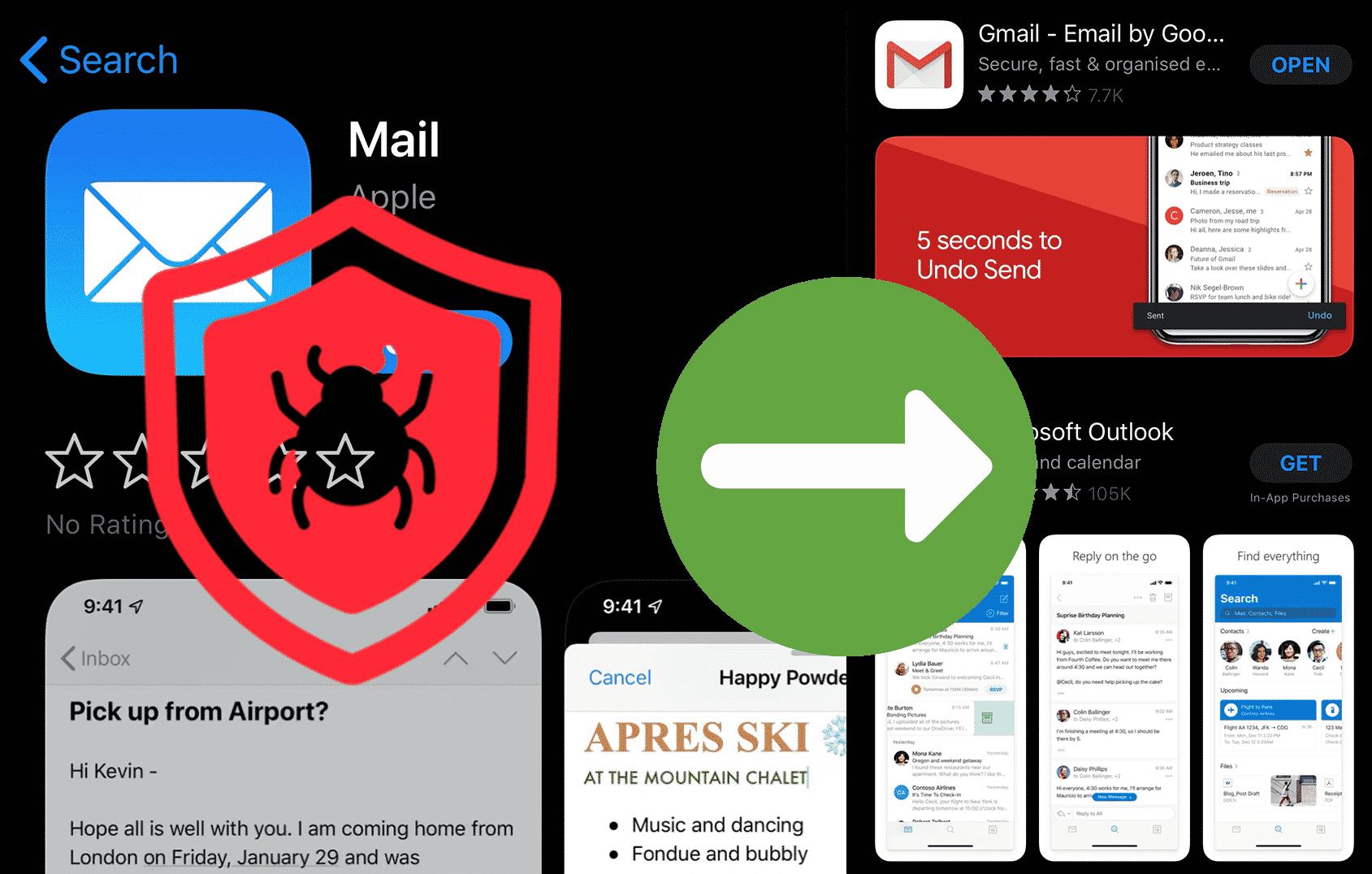 Apple appen Mail är hackad