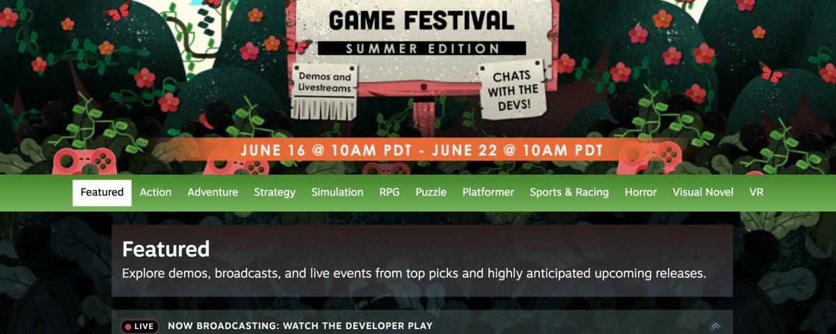 Steam summer festival
