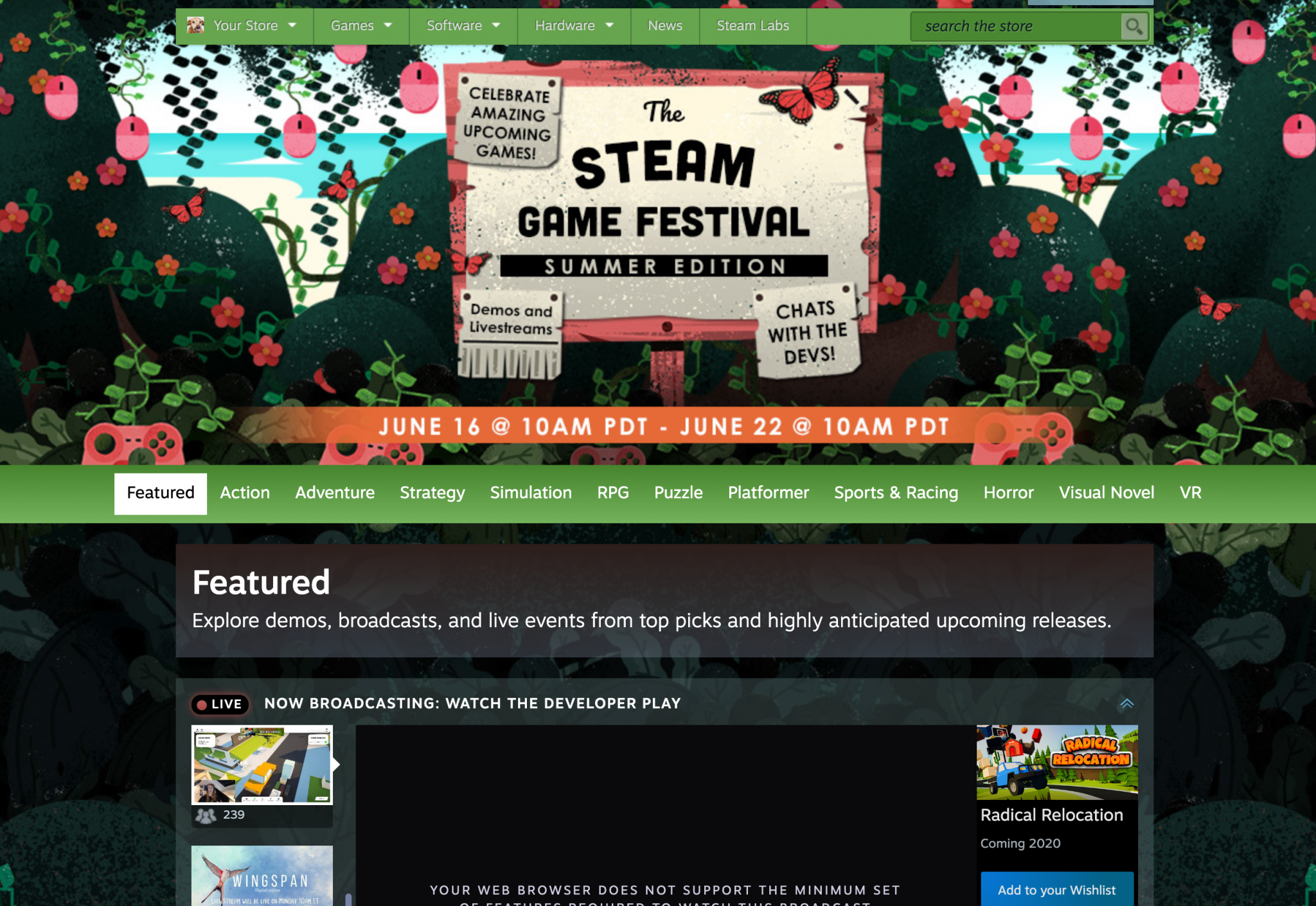 Steam summer festival
